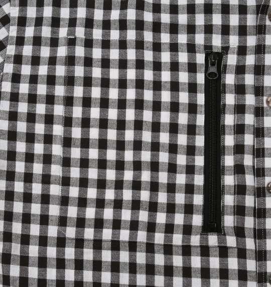 大きいサイズ メンズ OUTDOOR PRODUCTS 綿麻 チェック 長袖 マウンテン シャツ ブラック 1157-9111-2 3L 4L 5L 6L 8L