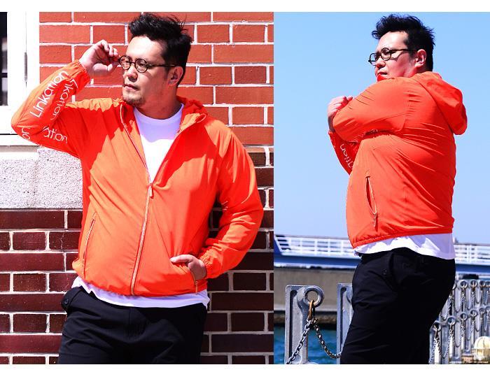 大きいサイズ メンズ LINKATION 4WAY ストレッチ フーデッド ブルゾン パーカー アスレジャー スポーツウェア la-b190101