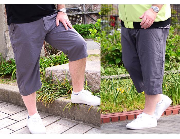 大きいサイズ メンズ LINKATION 4WAY ストレッチ クロップド パンツ アスレジャー スポーツウェア la-sp190201