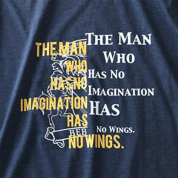 大きいサイズ メンズ DANIEL DODD 長袖 Tシャツ ロンT オーガニックコットン プリント ロングTシャツ azt-190107