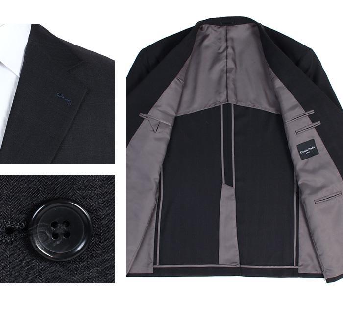 大きいサイズ メンズ DANIEL DODD ウルトラソフト ストレッチ 2ツ釦 スーツ ポリエステル100% ビジネススーツ リクルートスーツ 春夏新作 az46t4909