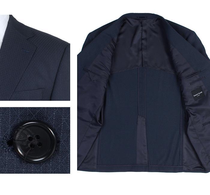 大きいサイズ メンズ DANIEL DODD ウルトラソフト ストレッチ 2ツ釦 スーツ ポリエステル100% ビジネススーツ リクルートスーツ 春夏新作 az46t8467