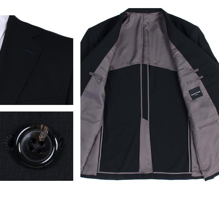 大きいサイズ メンズ DANIEL DODD アクティブ ストレッチ 2ツ釦 ツーパンツ スーツ ソロテックス使用 ビジネススーツ リクルートスーツ az46wpp31