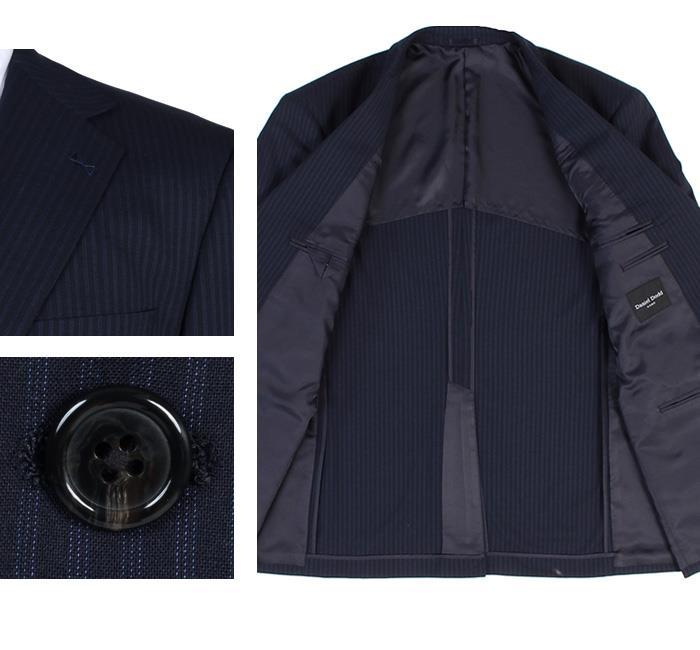 大きいサイズ メンズ DANIEL DODD アクティブ ストレッチ 2ツ釦 ツーパンツ スーツ ソロテックス使用 ビジネススーツ リクルートスーツ az46wpp72
