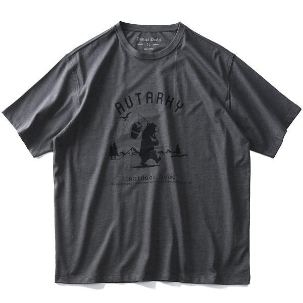 大きいサイズ メンズ DANIEL DODD 半袖 Tシャツ オーガニック プリント 半袖Tシャツ AUTARKY azt-190236