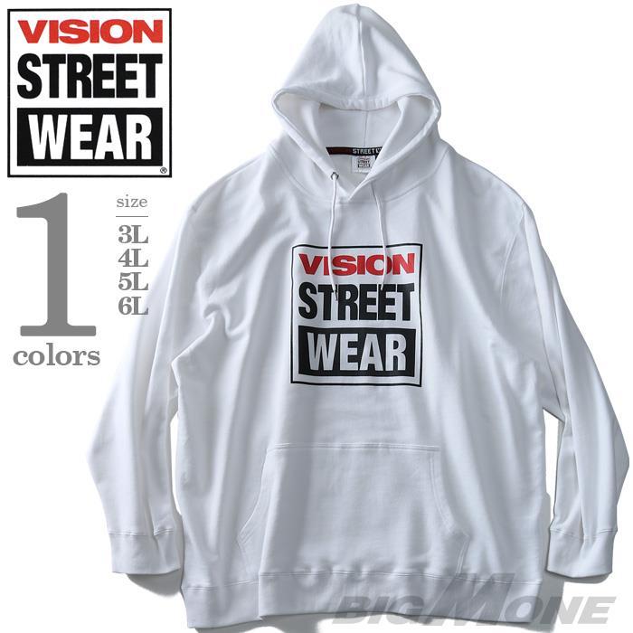 大きいサイズ メンズ VISION STREET WEAR プリント プルオーバー パーカー 春夏新作 9304104