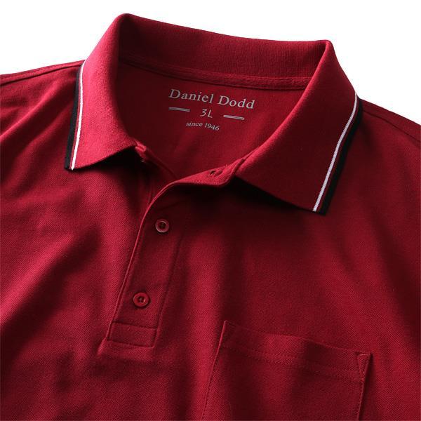 まとめ割 大きいサイズ メンズ DANIEL DODD 吸汗速乾 半袖 鹿の子 ライン入り ポロシャツ オーガニック 消臭機能付 azpr-009009