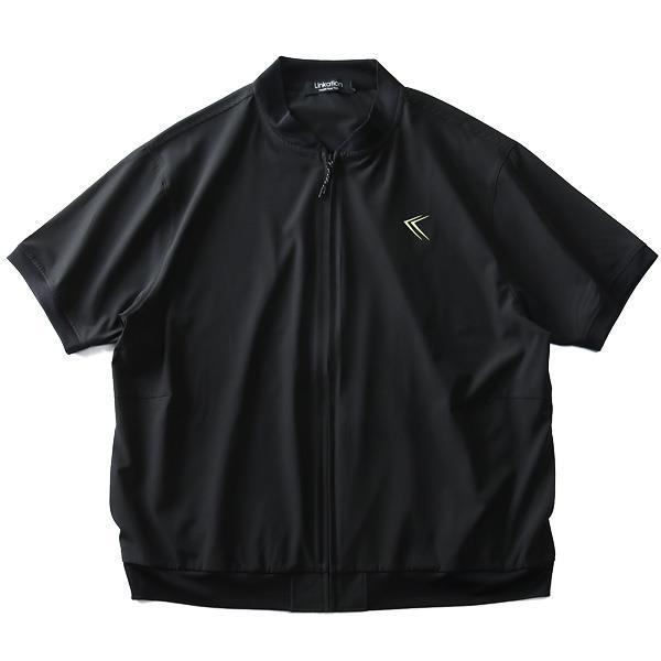 大きいサイズ メンズ LINKATION ストレッチ クロス 半袖 カット ジャケット 吸汗速乾 アスレジャー スポーツウェア la-cj190297