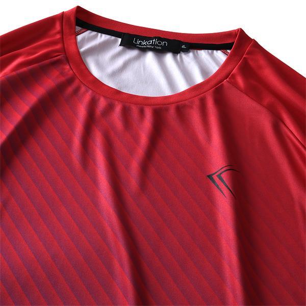 大きいサイズ メンズ LINKATION DRY ラグラン スムス 半袖 Tシャツ 吸汗速乾 春夏新作 la-t190294