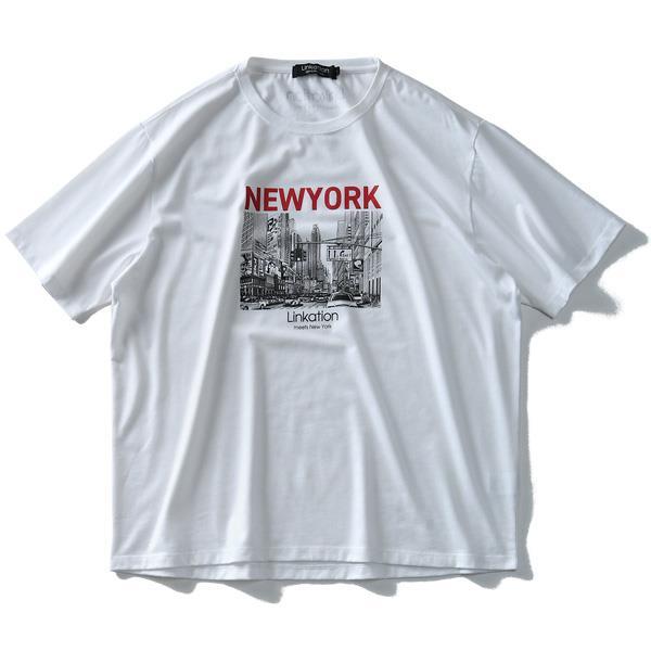 大きいサイズ メンズ LINKATION フォト プリント 半袖 Tシャツ アスレジャー スポーツウェア la-t190295