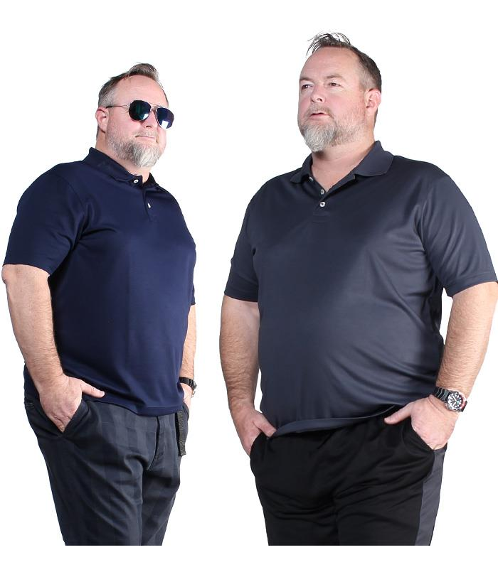 大きいサイズ メンズ DANIEL DODD 無地 半袖 スポーツ ポロシャツ 吸汗速乾 azpr-009008
