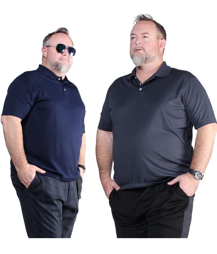 まとめ割 大きいサイズ メンズ DANIEL DODD 無地 半袖 スポーツ ポロシャツ 吸汗速乾 春夏新作 azpr-009008
