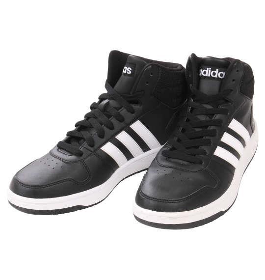 大きいサイズ メンズ adidas スニーカー アディフープスミッド2.0 コアブラック 1140-9203-2 30 31 32