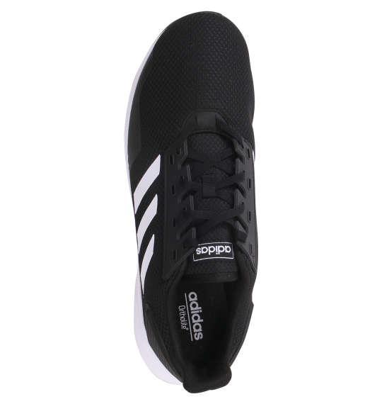 大きいサイズ メンズ adidas スニーカー デュラモ9ワイドM ブラック × ホワイト 1140-9205-1 30 31 32