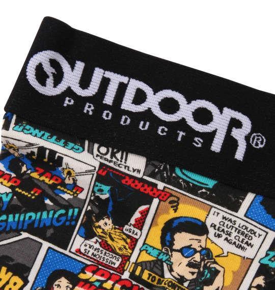 大きいサイズ メンズ OUTDOOR PRODUCTS アメコミ ボクサーパンツ ブラック 1149-9224-2 3L 4L 5L 6L