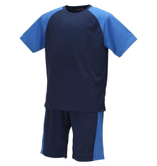 大きいサイズ メンズ Mc.S.P 吸汗速乾 半袖 Tシャツ + ハーフパンツ ネイビー × ブルー 1156-9210-1 3L 4L 5L 6L 8L