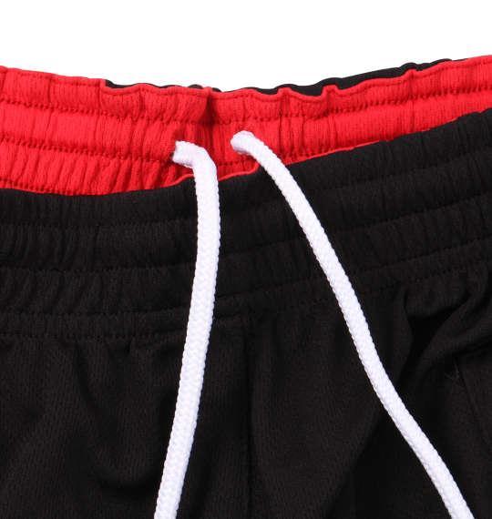 大きいサイズ メンズ Mc.S.P 吸汗速乾 半袖 Tシャツ + ハーフパンツ ブラック × レッド 1156-9210-3 3L 4L 5L 6L 8L