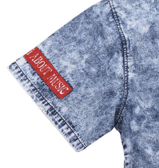 大きいサイズ メンズ in the attic ケミカルウォッシュ 半袖 オープンシャツ サックス 1157-9210-1 3L 4L 5L 6L