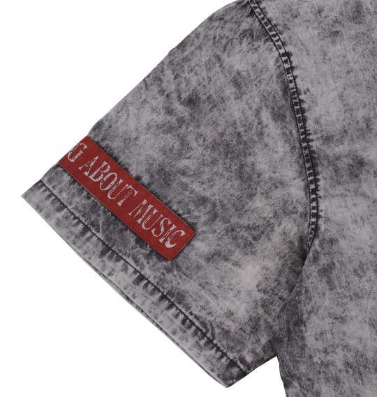 大きいサイズ メンズ in the attic ケミカルウォッシュ 半袖 オープンシャツ ブラック 1157-9210-2 3L 4L 5L 6L