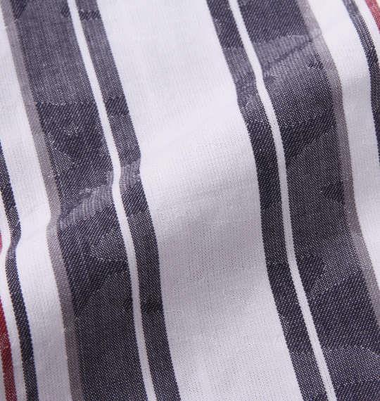 大きいサイズ メンズ in the attic ストライプ カモフラ ジャガード 半袖 シャツ オフホワイト 1157-9211-1 3L 4L 5L 6L