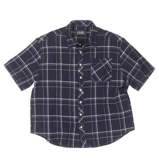 大きいサイズ メンズ Mc.S.P パナマチェック 半袖 シャツ ネイビー系 1157-9250-2 3L 4L 5L 6L 8L