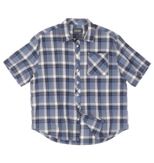 大きいサイズ メンズ Mc.S.P パナマチェック 半袖 シャツ ブルー系 1157-9251-1 3L 4L 5L 6L 8L
