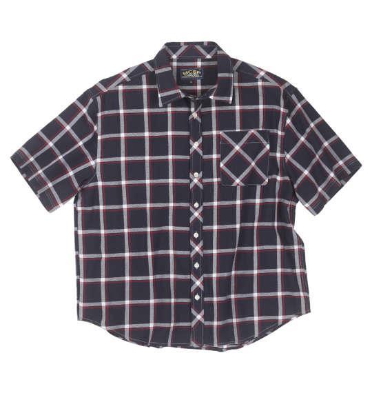 大きいサイズ メンズ Mc.S.P パナマチェック 半袖 シャツ ネイビー系 1157-9251-2 3L 4L 5L 6L 8L