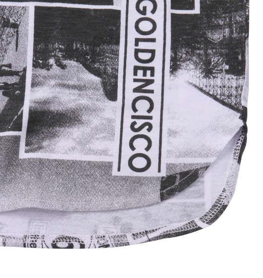 大きいサイズ メンズ BEAUMERE ノースリーブ パーカー + 総柄 裾ラウンド 半袖 Tシャツ ブラック × チャコール 1158-9201-1 3L 4L 5L 6L
