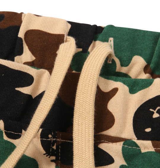 大きいサイズ メンズ LUCPY 半袖 Tシャツ + ミニ裏毛 ハーフパンツ ブラック × カモフラ 1158-9206-2 3L 4L 5L 6L