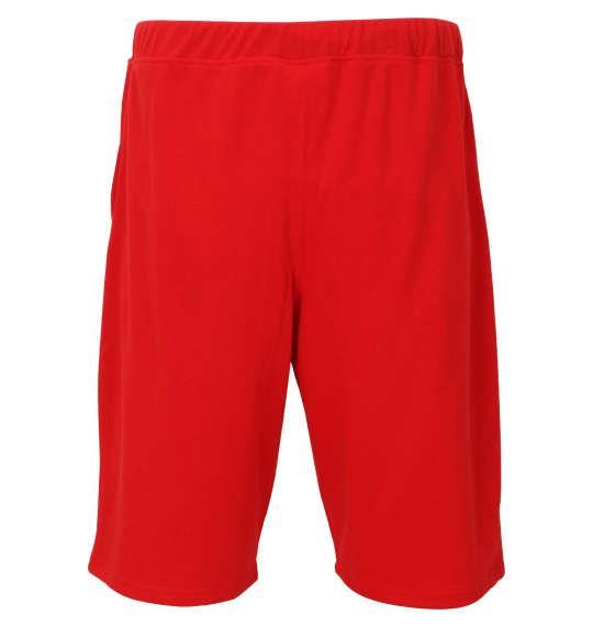 大きいサイズ メンズ LUCPY 半袖 Tシャツ + ミニ裏毛 ハーフパンツ ブラック × レッド 1158-9207-2 3L 4L 5L 6L