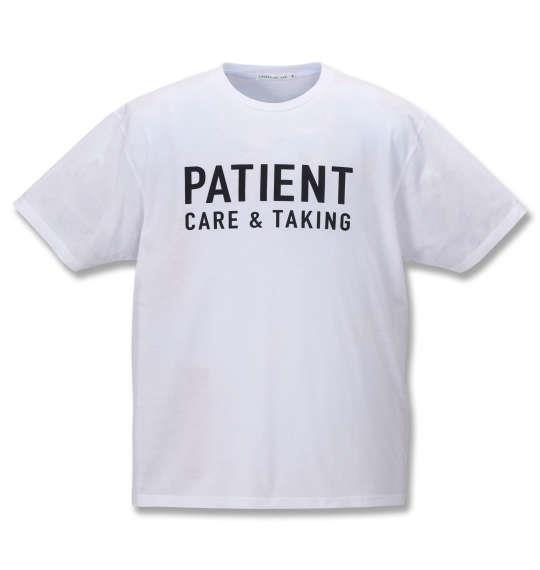 大きいサイズ メンズ launching pad 甘編み スラブ 天竺 半袖 フルジップ パーカー + 半袖 Tシャツ グレー杢 × ホワイト 1158-9250-2 3L 4L 5L 6L