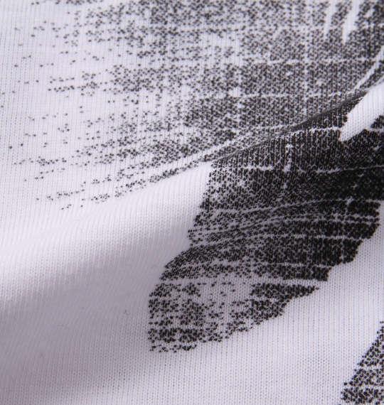 大きいサイズ メンズ launching pad 総柄プリント 半袖 V Tシャツ ホワイト × ブラック系 1158-9252-2 3L 4L 5L 6L