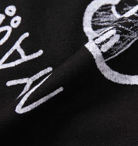 大きいサイズ メンズ NECOBUCHI-SAN ミニ裏毛 総柄 プリント 半袖 フルジップ パーカー ブラック 1158-9262-2 3L 4L 5L 6L