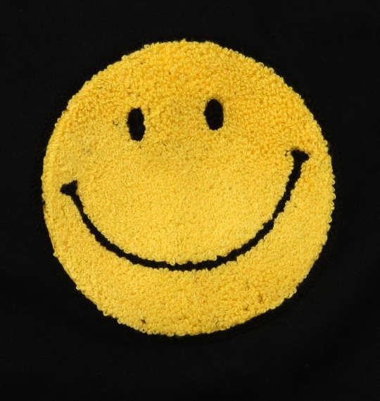 大きいサイズ メンズ SMILEY FACE サガラ刺繍 半袖 Tシャツ ブラック 1158-9270-2 3L 4L 5L 6L