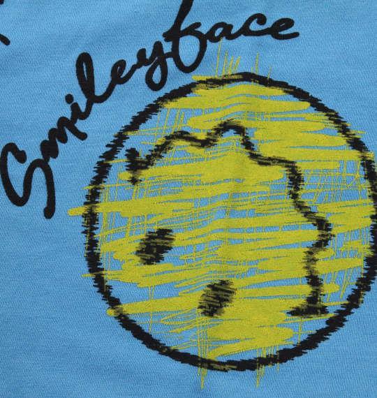 大きいサイズ メンズ SMILEY FACE 総柄 プリント 半袖 Tシャツ ターコイズ 1158-9271-2 3L 4L 5L 6L