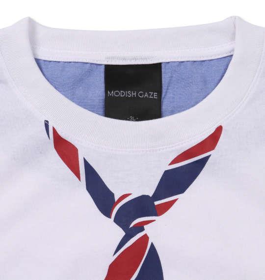 大きいサイズ メンズ MODISH GAZE おもしろポケット 半袖 Tシャツ ホワイト 1158-9280-1 3L 4L 5L 6L