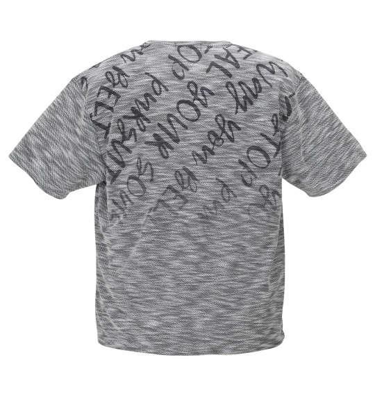 大きいサイズ メンズ in the attic スラブ ネップ ロゴグラデーション 半袖 Tシャツ ブラック系 1158-9290-2 3L 4L 5L 6L