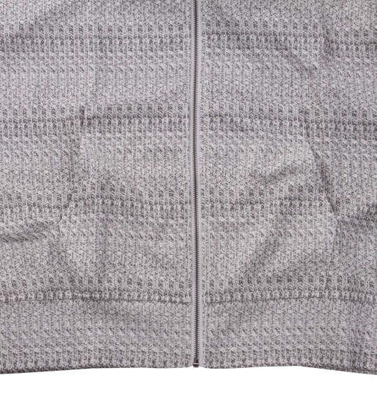大きいサイズ メンズ in the attic 膨れ ジャガード刺繍 半袖 フルジップ パーカー ホワイト 1158-9292-1 3L 4L 5L 6L