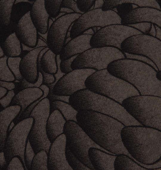 大きいサイズ メンズ 絡繰魂 風神 雷神 モノトーン 刺繍 半袖 Tシャツ ブラック 1158-9531-1 3L 4L 5L 6L 8L