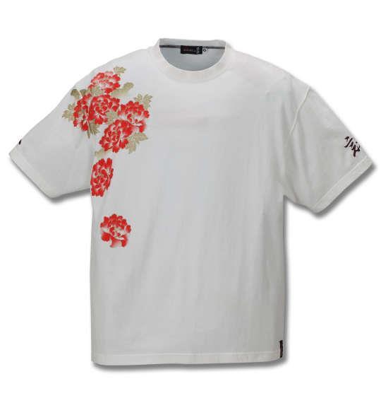 大きいサイズ メンズ 絡繰魂抜刀娘 三人娘黄昏 半袖 Tシャツ ホワイト 1158-9545-1 3L 4L 5L 6L