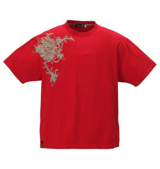 大きいサイズ メンズ 絡繰魂抜刀娘 結愛真夏の雪女 半袖 Tシャツ レッド 1158-9547-1 3L 4L 5L 6L