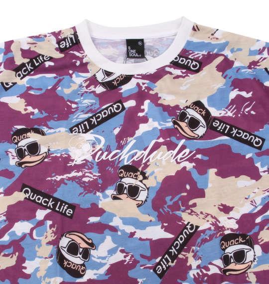 大きいサイズ メンズ b-one-soul DUCK DUDE カモフラ柄 半袖 Tシャツ モダン 1158-9551-2 3L 4L 5L 6L