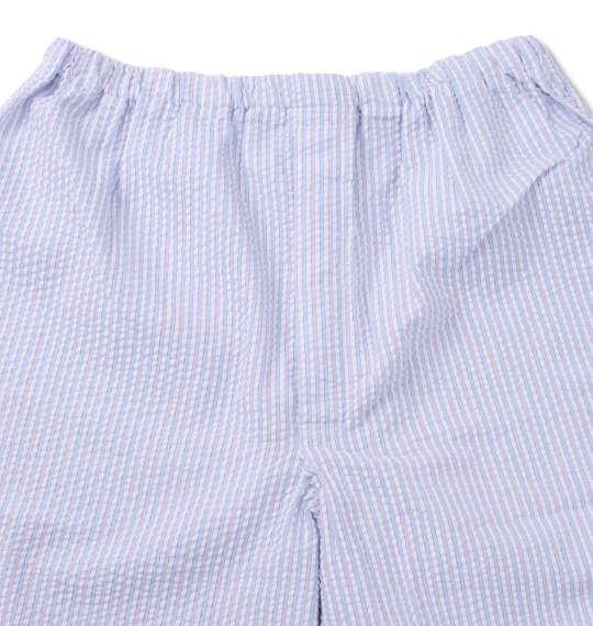 大きいサイズ メンズ marie claire homme DRY サッカー ストライプ 半袖 パジャマ サックス系 1159-9251-1 3L 4L 5L 6L 8L