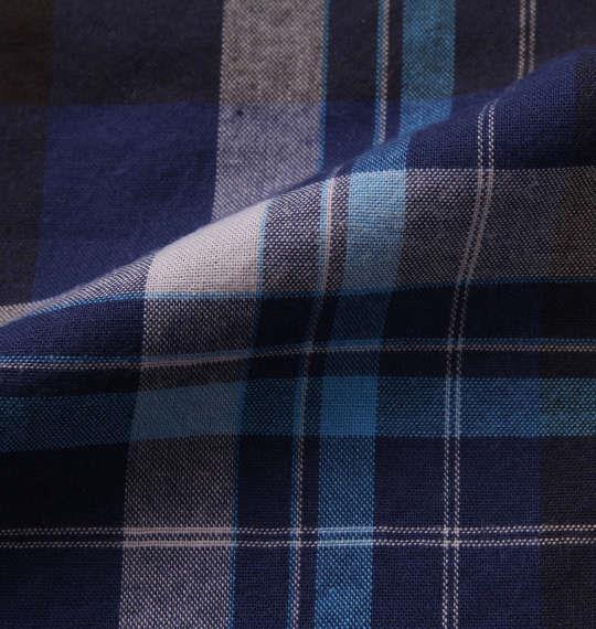 大きいサイズ メンズ H by FIGER マドラスチェック B.D 半袖 シャツ ネイビー系 1167-9220-2 3L 4L 5L 6L 8L