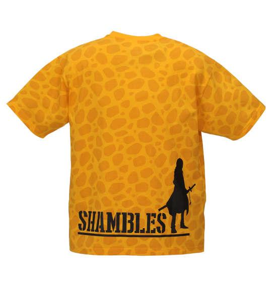 大きいサイズ メンズ ONE PIECE 総柄 半袖 Tシャツ イエロー 1168-9212-1 3L 4L 5L 6L 8L