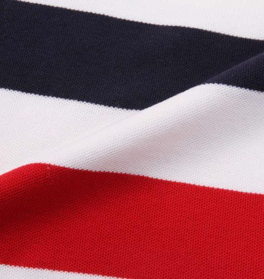 大きいサイズ メンズ H by FIGER 鹿の子 ボーダー 半袖 ポロシャツ レッド 1168-9231-1 3L 4L 5L 6L 8L