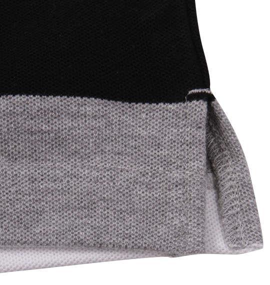 大きいサイズ メンズ H by FIGER 鹿の子 ボーダー 半袖 ポロシャツ ブラック 1168-9231-2 3L 4L 5L 6L 8L