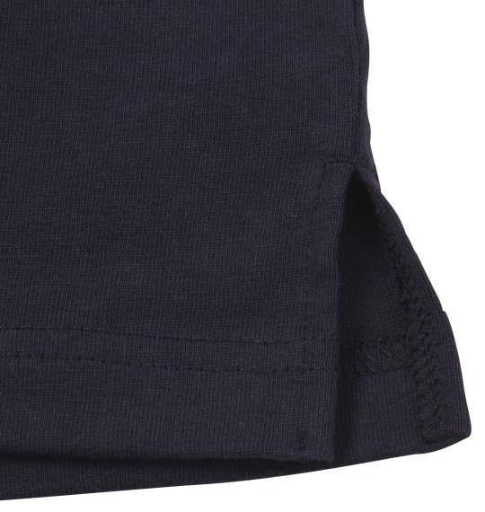 大きいサイズ メンズ H by FIGER 切替 半袖 ラガーシャツ ネイビー × ワイン 1168-9232-1 3L 4L 5L 6L 8L