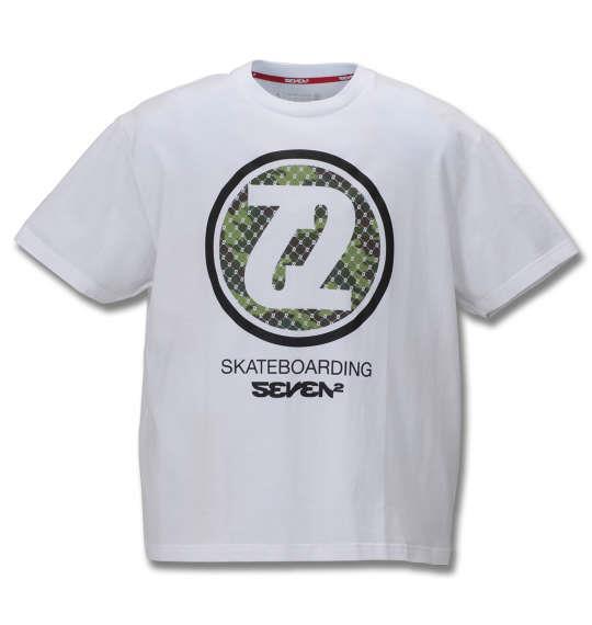 大きいサイズ メンズ SEVEN2 半袖 Tシャツ ホワイト 1168-9261-1 3L 4L 5L 6L