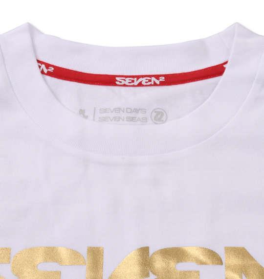 大きいサイズ メンズ SEVEN2 半袖 Tシャツ ホワイト 1168-9262-1 3L 4L 5L 6L